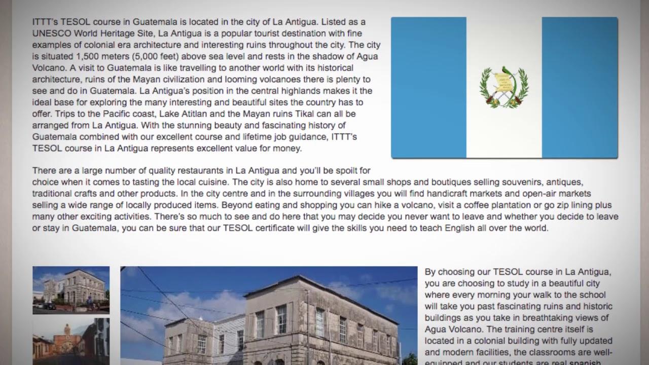 TESOL Course in La Antigua, Guatemala   Teach & Live abroad!