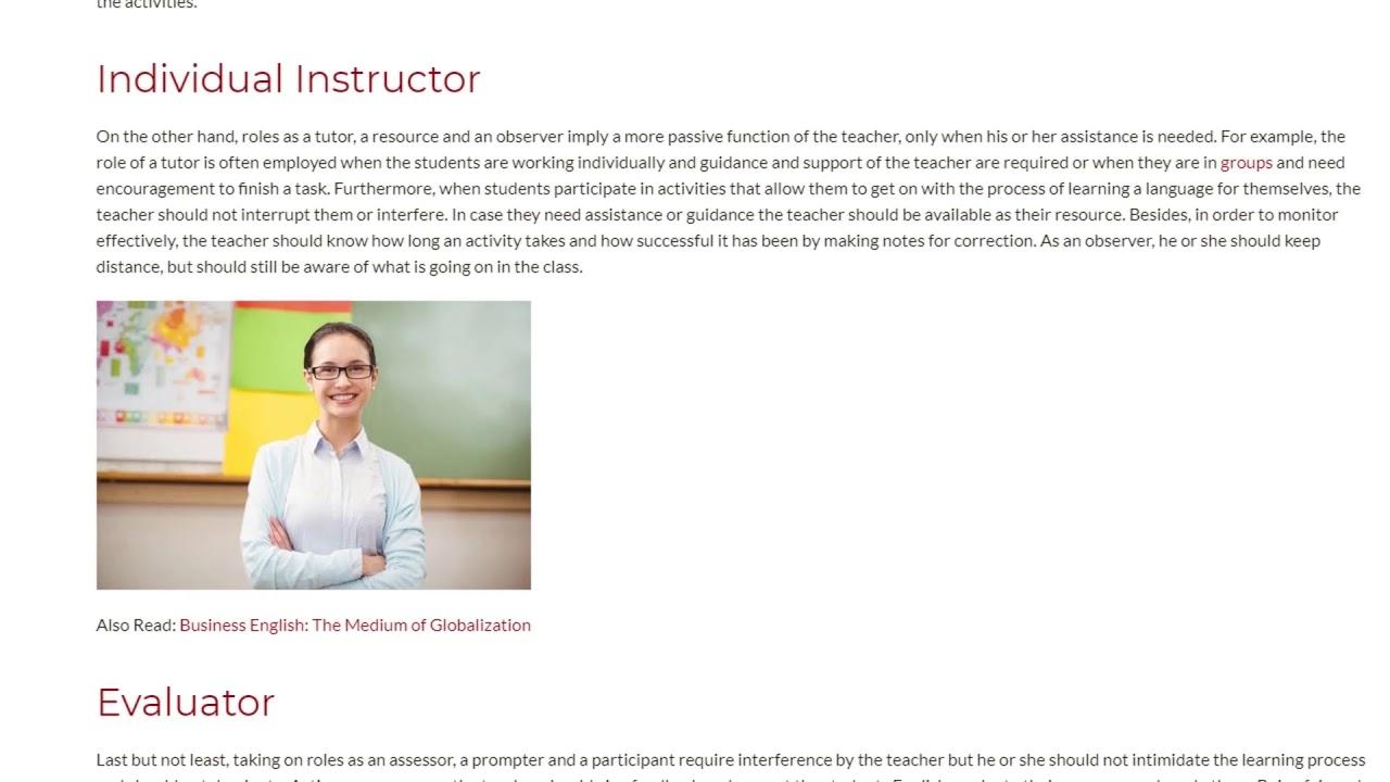 Several Ways a Teacher Can Act in The Classroom   ITTT TEFL BLOG
