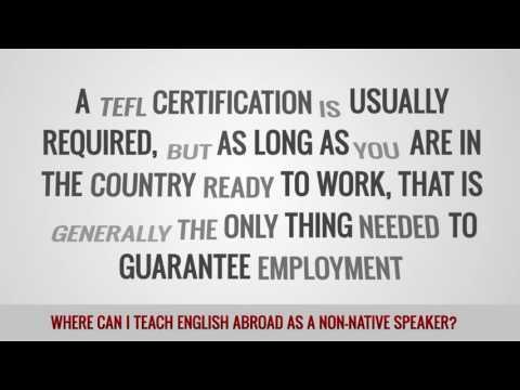 ITTT FAQs – Where can I teach English abroad as a non-native speaker?