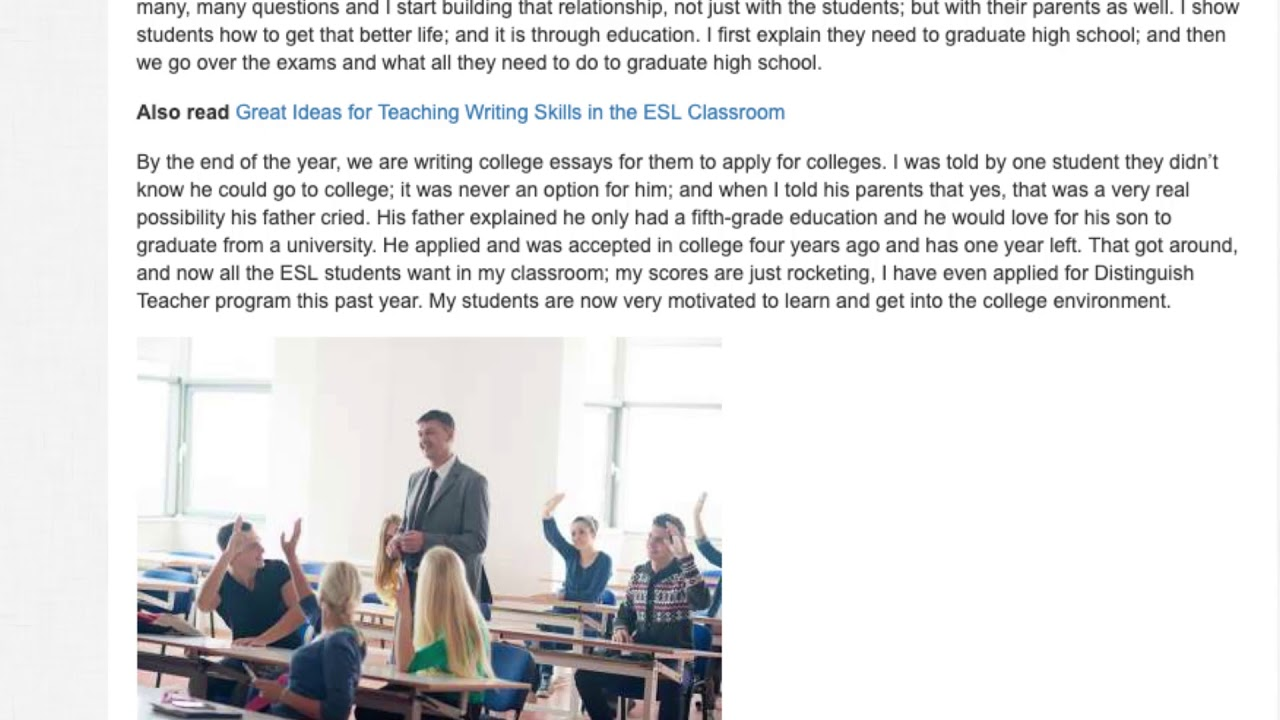 How to Motivate High School Students in the ESL Classroom   ITTT TEFL BLOG