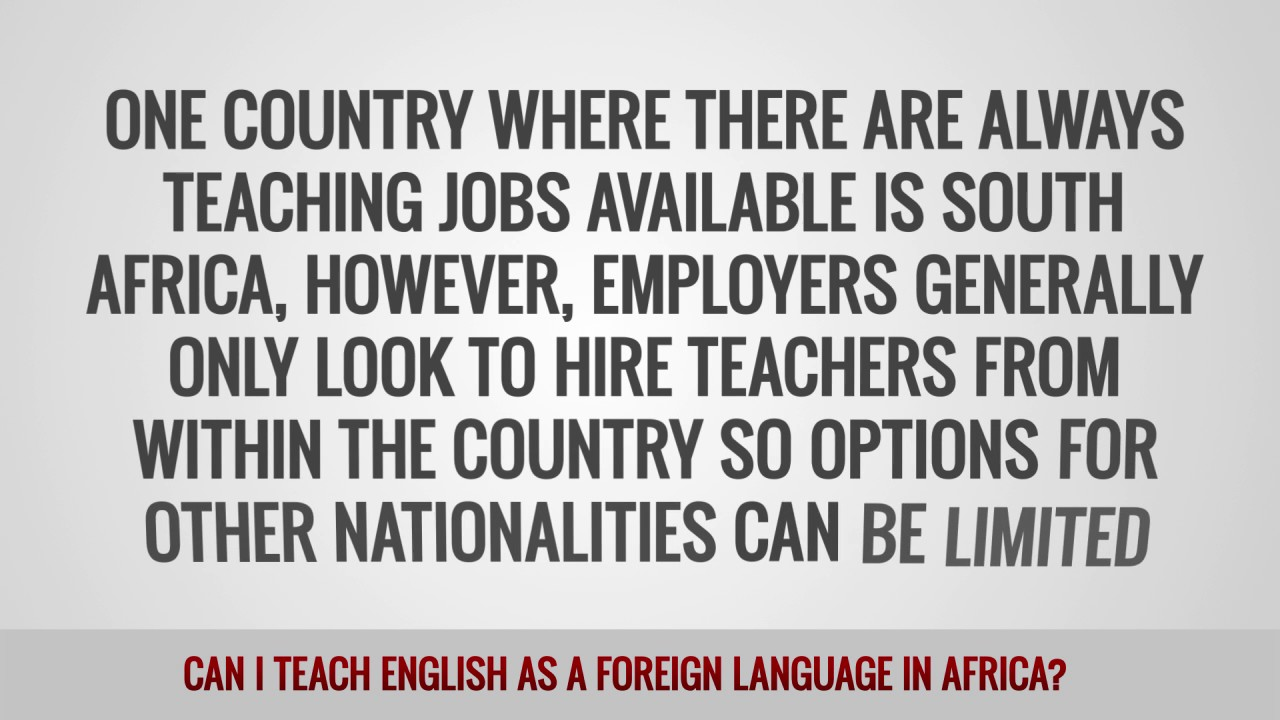 ITTT FAQs – Can I teach English as a foreign language in Africa?
