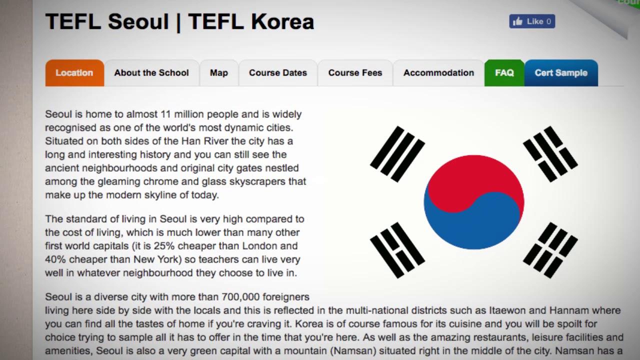 TEFL / TESOL Course in Seoul, South Korea   Teach & Live abroad!