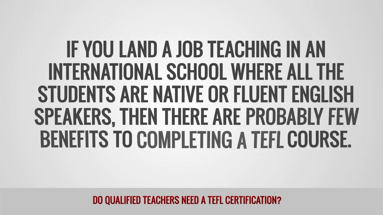 ITTT FAQs – Do qualified teachers need a TEFL certification?