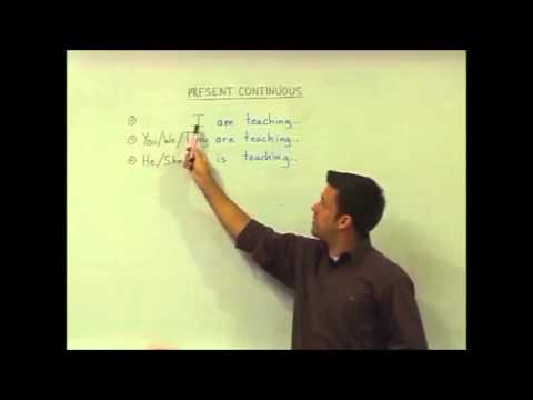 English Grammar – Present Continuous – Structure