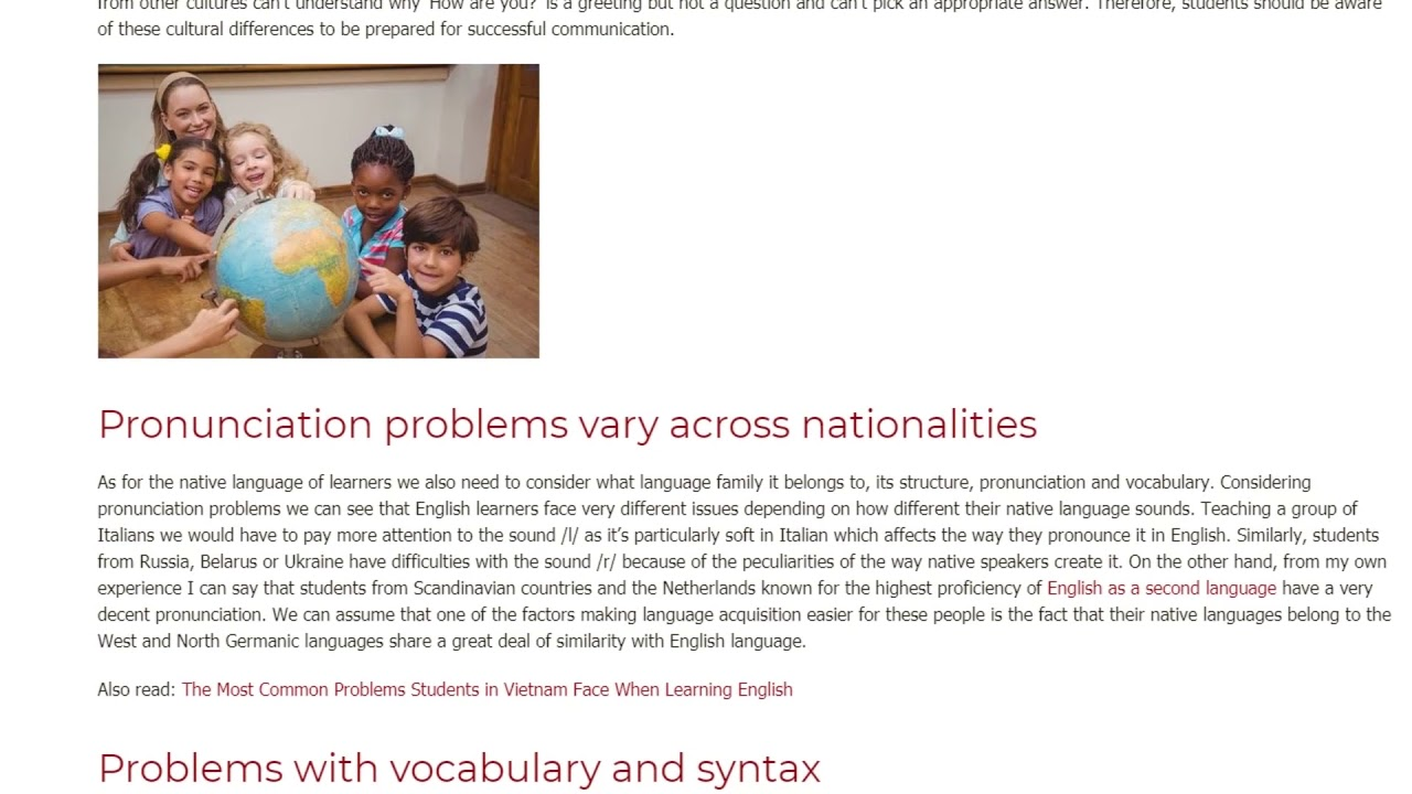 3 Important Problems Facing Students of Different Nationalities   ITTT TEFL BLOG