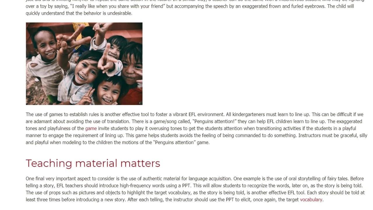 Teaching EFL in a Kindergarten – What Is It Like   ITTT TEFL BLOG