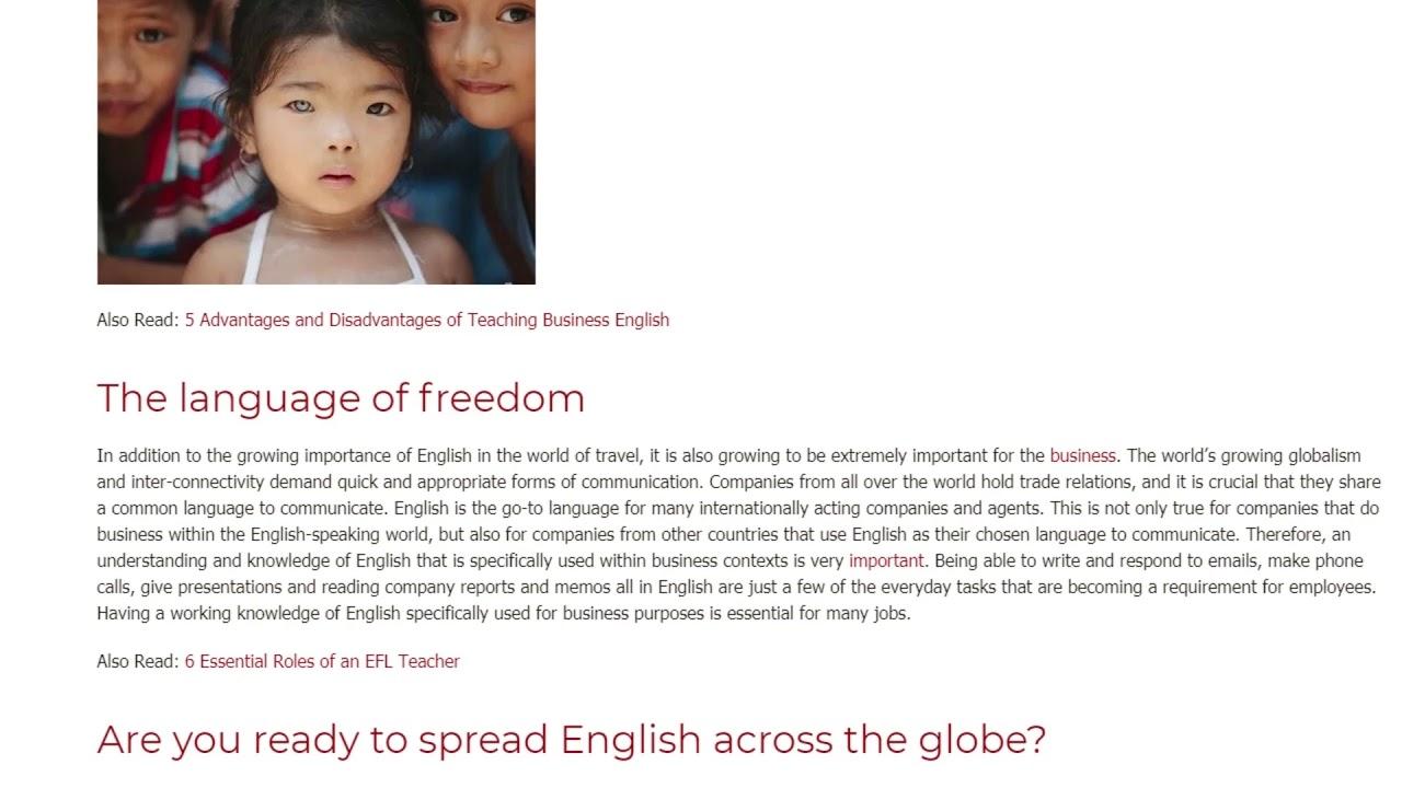 English, The Universal Language | ITTT TEFL BLOG