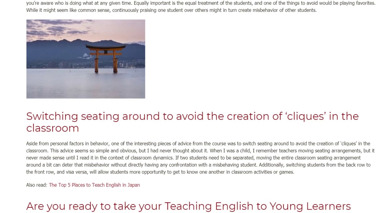Classroom Management for Young Learners in Japan | ITTT TEFL BLOG