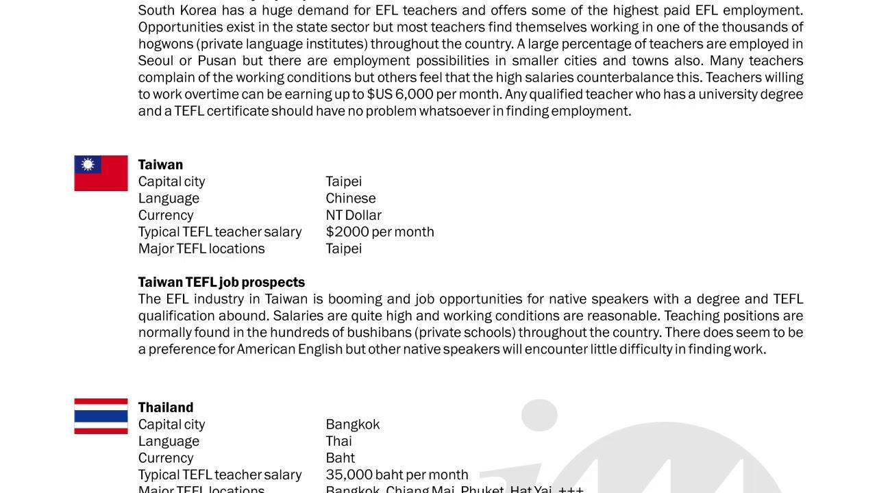 TEFL/TESOL Guide – South Korea, Taiwan & Thailand | International TEFL and TESOL Training (ITTT)