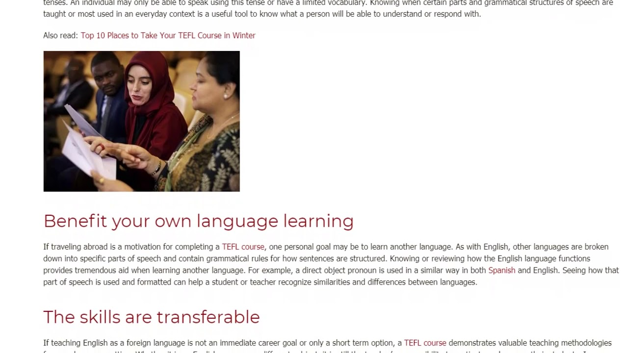 5 Crucial Benefits of Completing a TEFL Course | ITTT TEFL BLOG