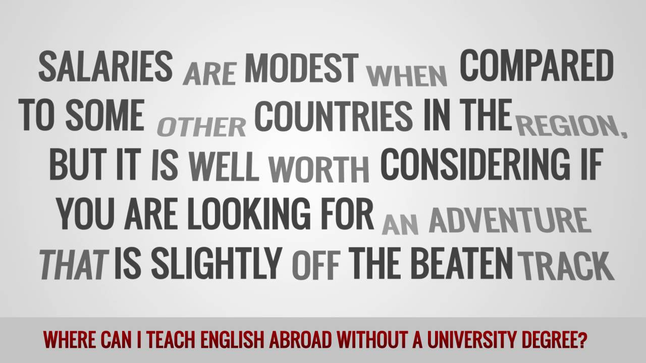ITTT FAQs – Where can I teach English abroad without a university degree?