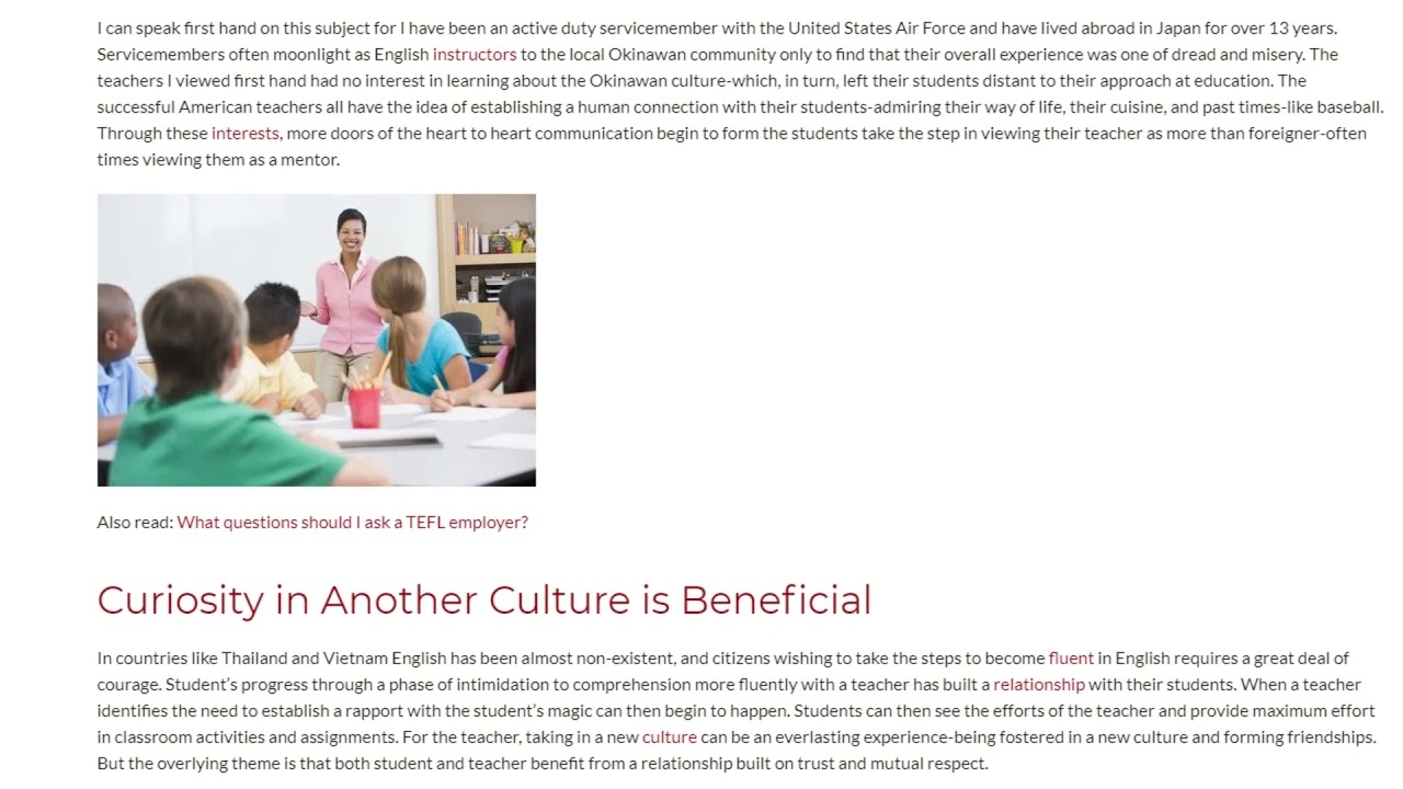 Relationship Building in Another Culture | ITTT TEFL BLOG