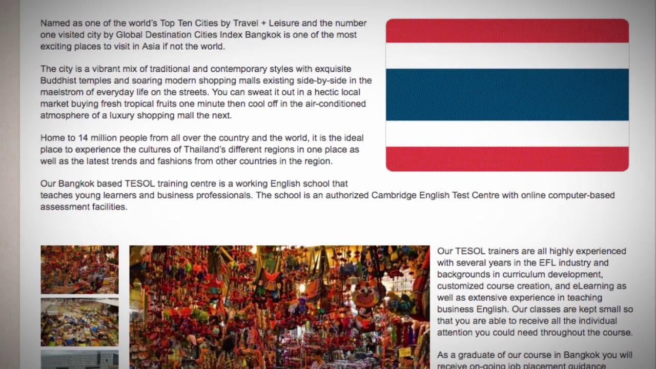 TESOL Course in Bangkok, Thailand   Teach & Live abroad!