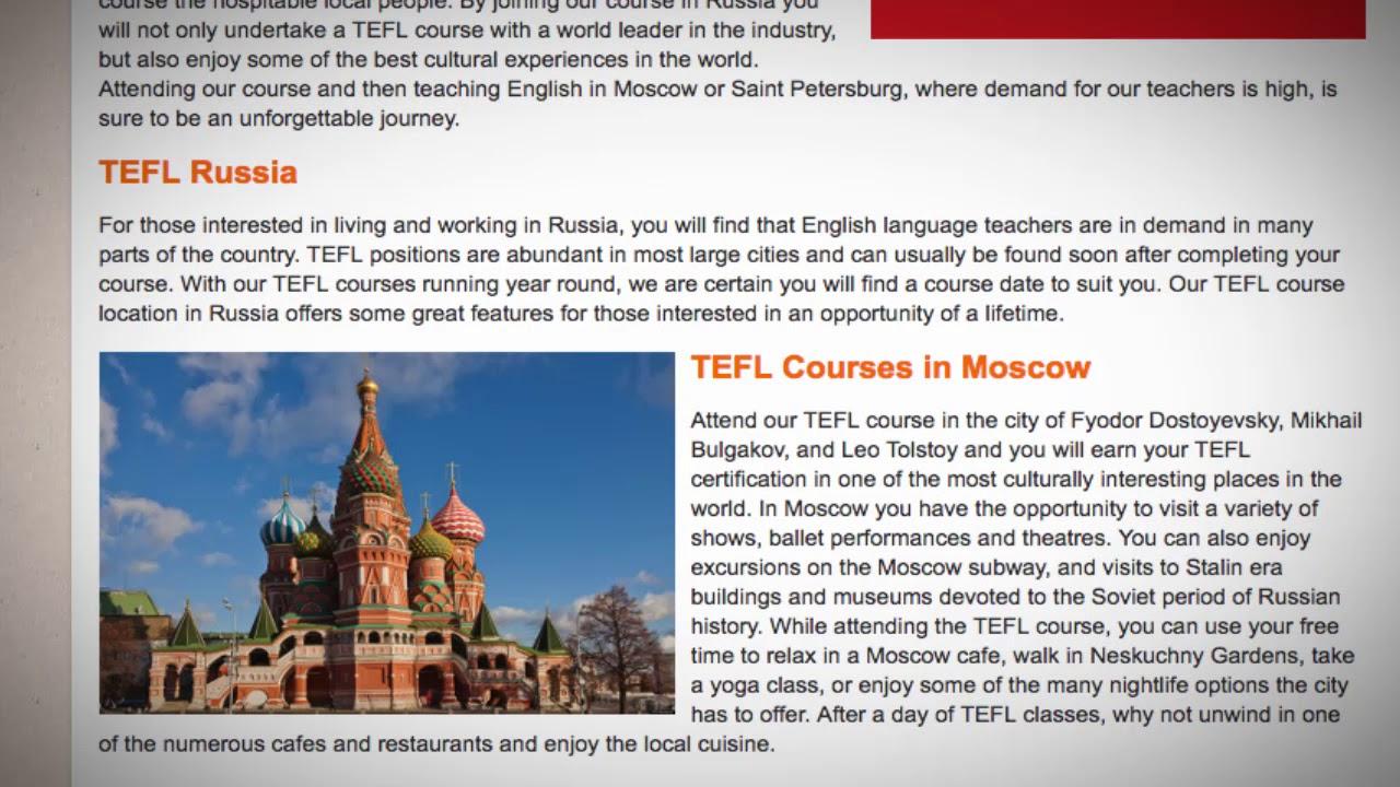TEFL / TESOL Course in Russia | Teach & Live abroad!