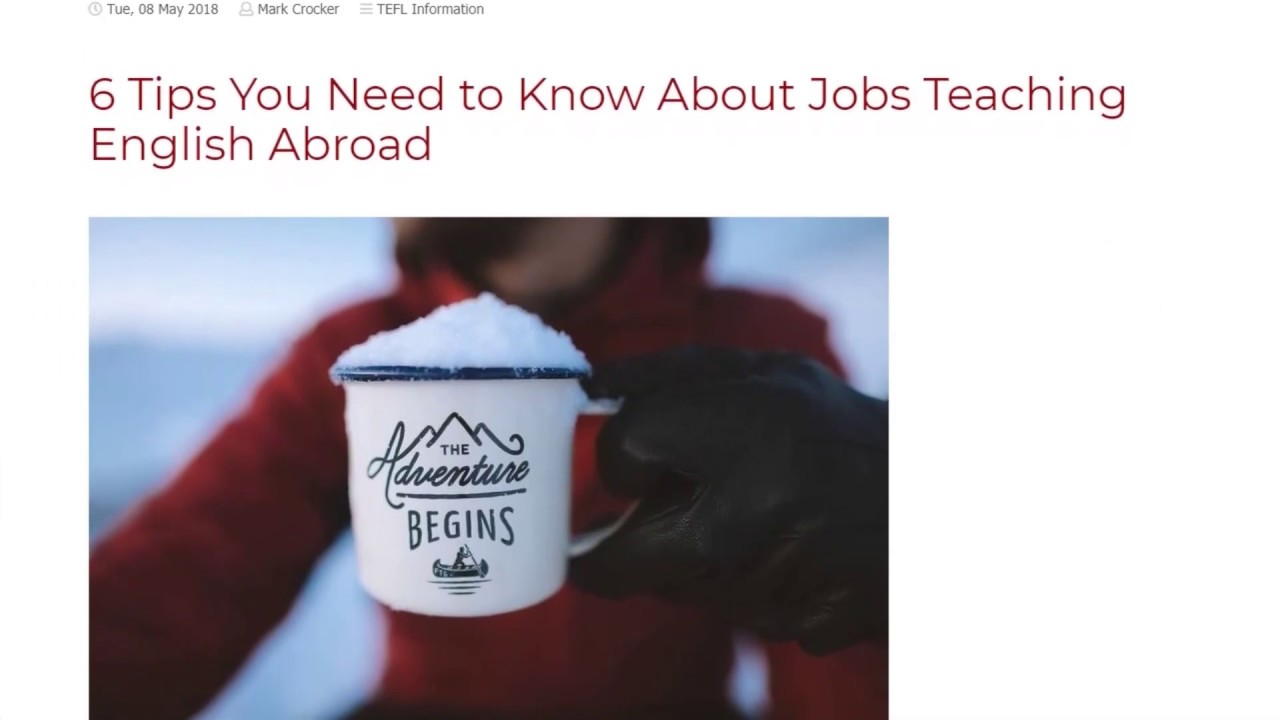 6 Tips You Need to Know About Jobs Teaching English Abroad   ITTT TEFL BLOG