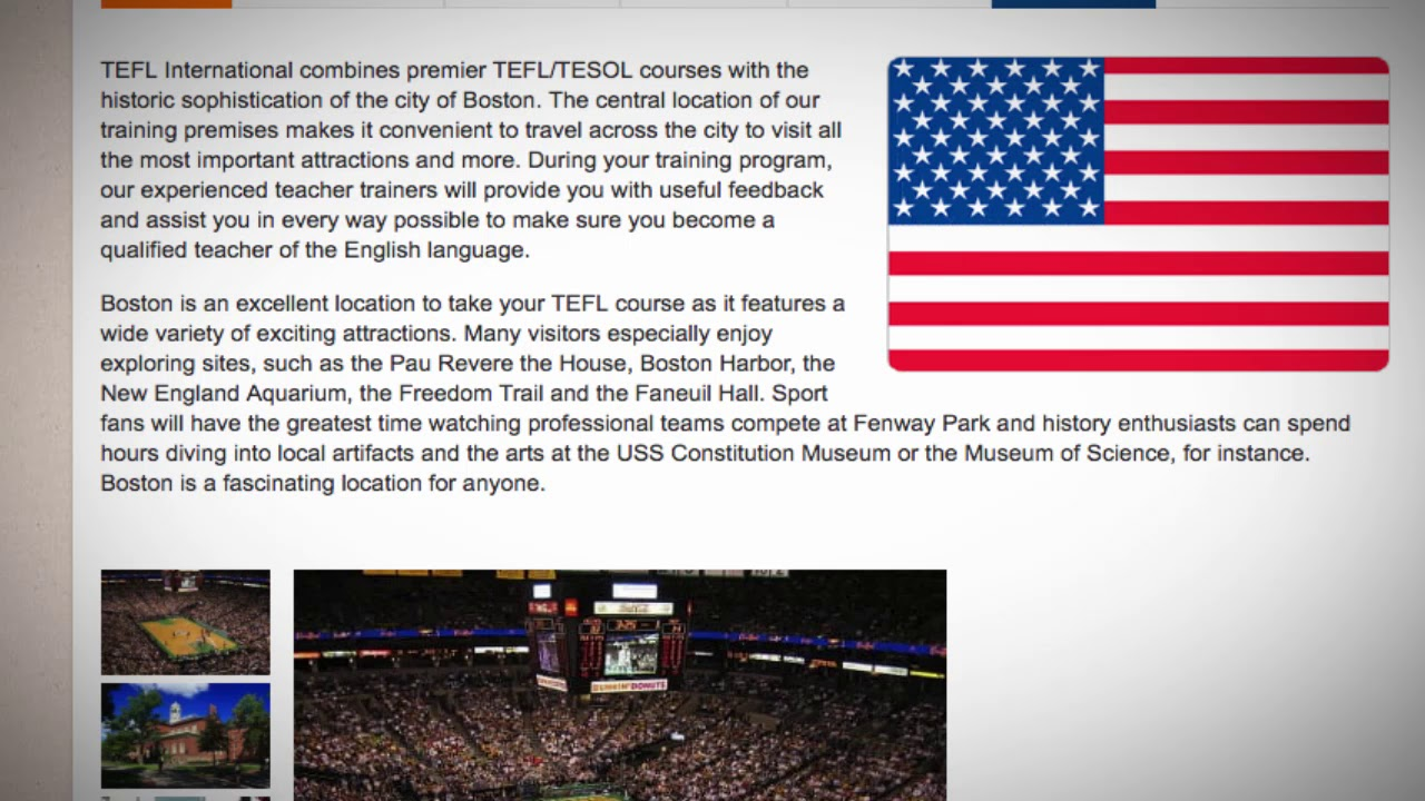 TEFL / TESOL Course in Boston, USA | Teach & Live abroad!