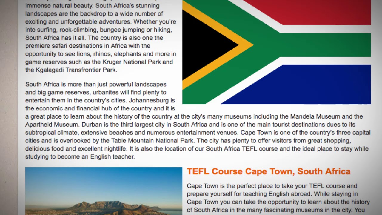 TEFL / TESOL Course in South Africa | Teach & Live abroad!