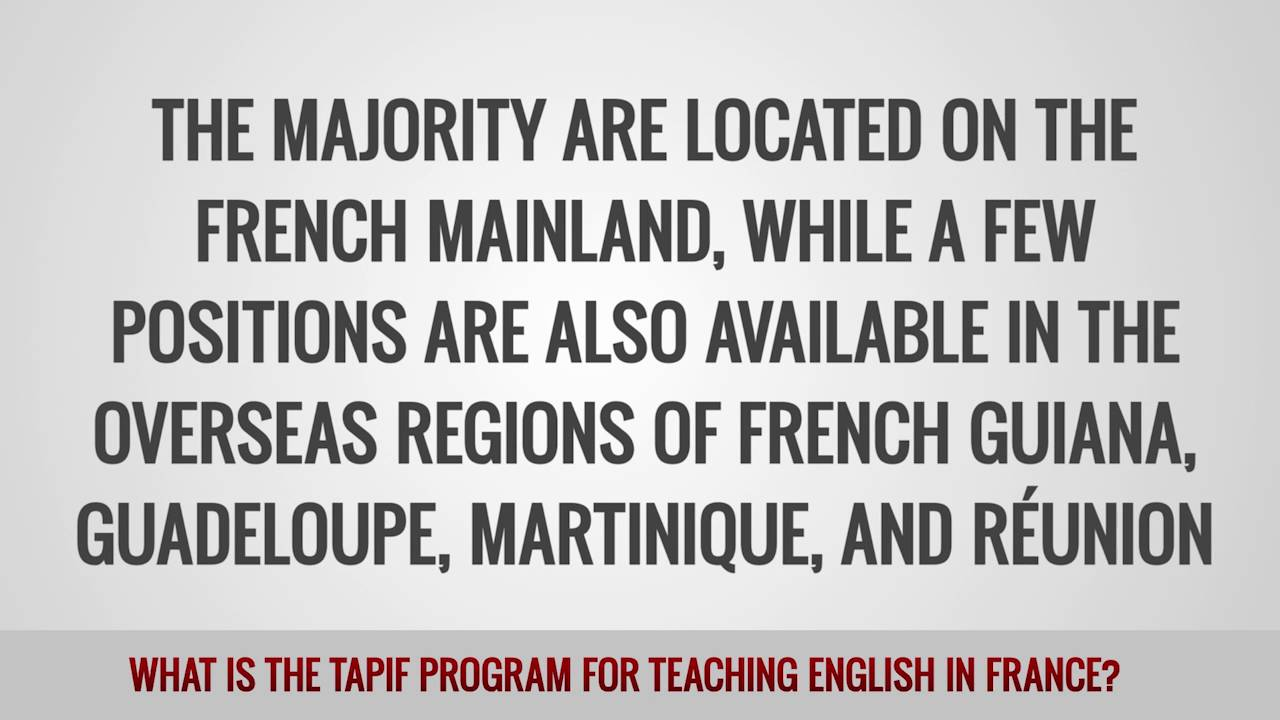 ITTT FAQs – What is the TAPIF Program for teaching English in France?