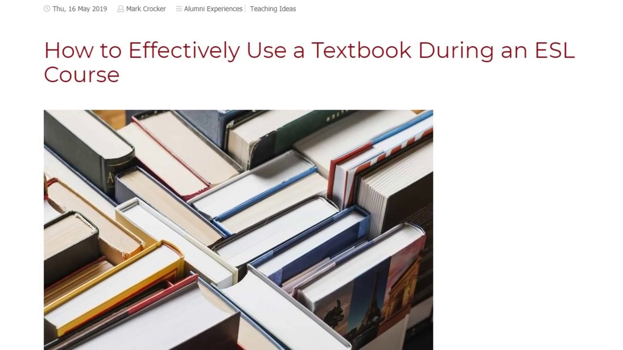 How to Effectively Use a Textbook During an ESL Course | ITTT TEFL BLOG