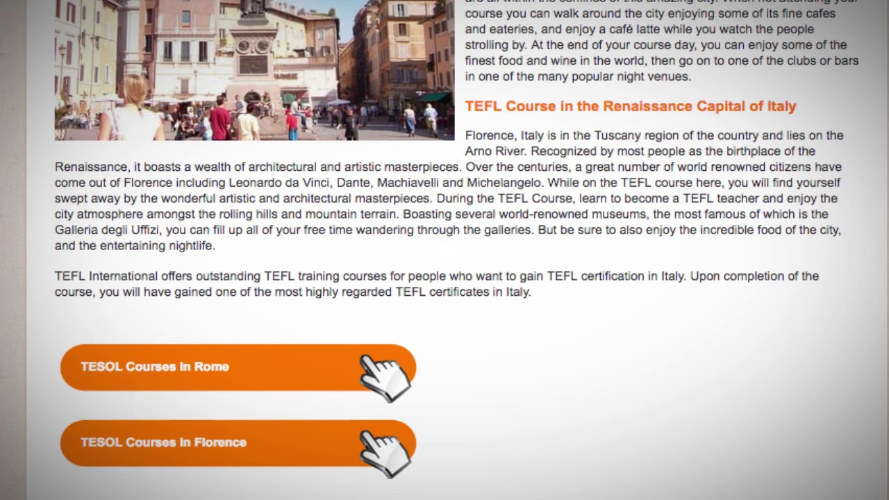 TESOL Course in Italy | Teach & Live abroad!