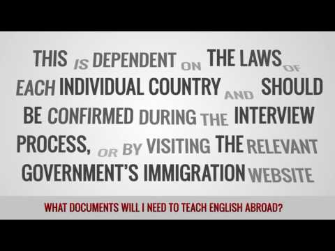 ITTT FAQs – What documents will I need to teach English abroad