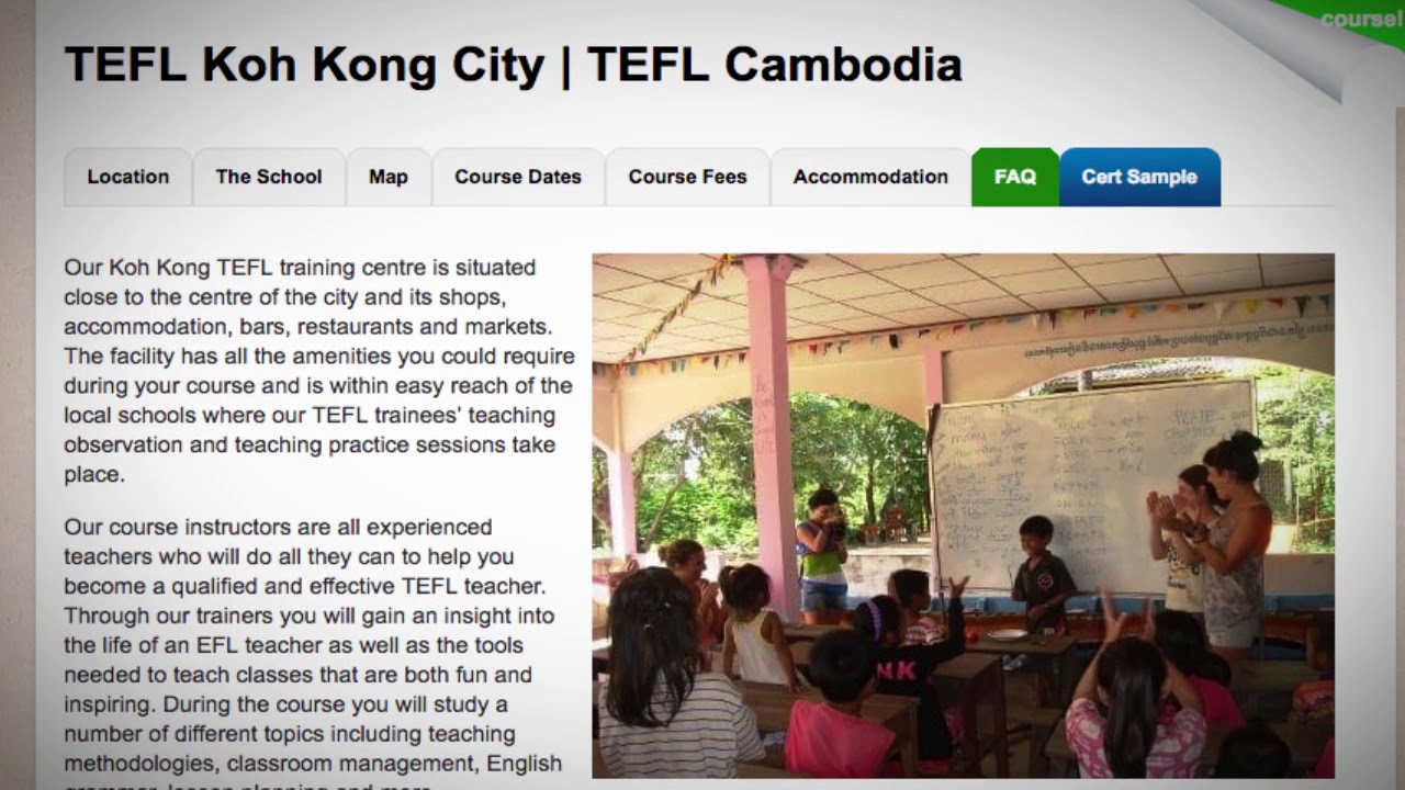 Welcome to Our TEFL / TESOL School in Koh Kong City, Cambodia | Teach & Live abroad!