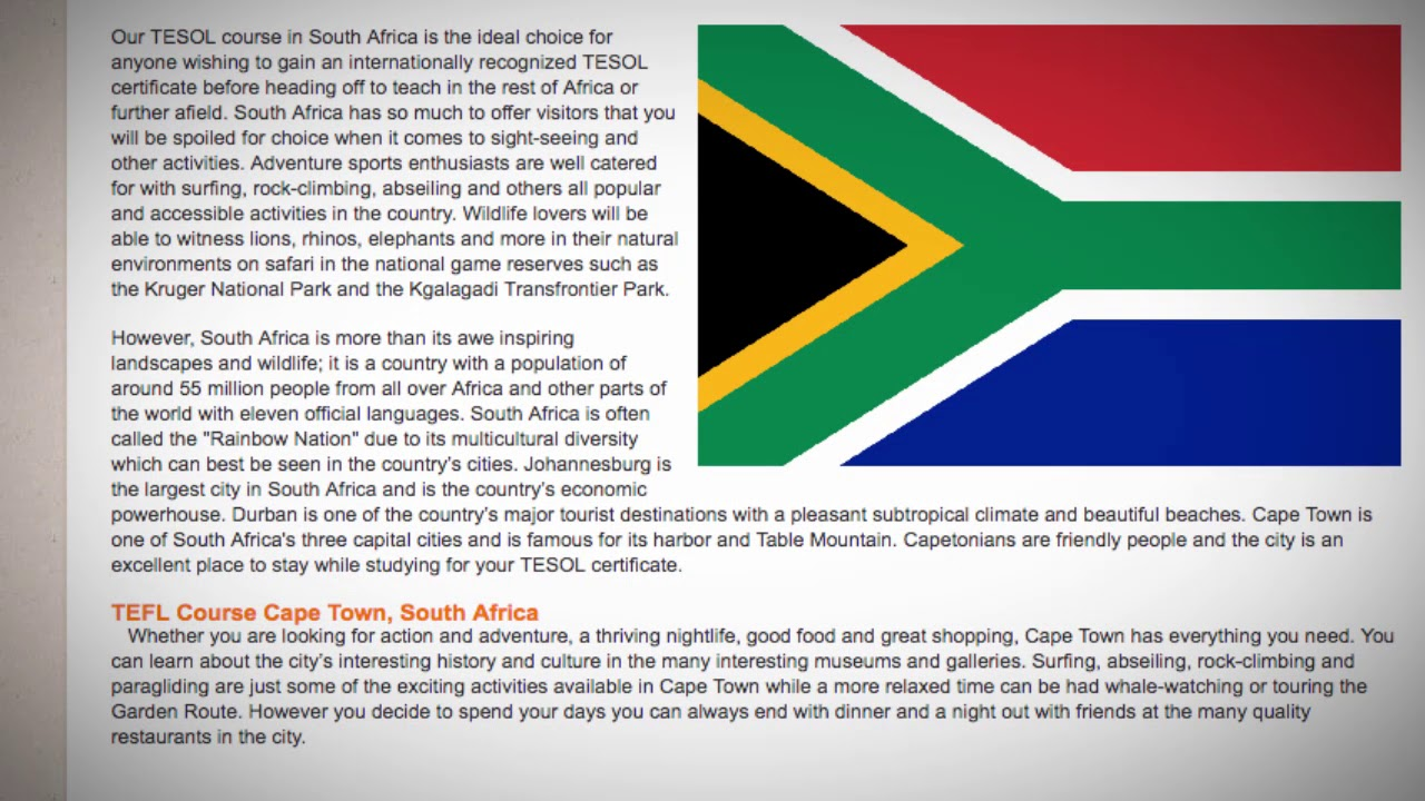 TESOL Course in South Africa | Teach & Live abroad!