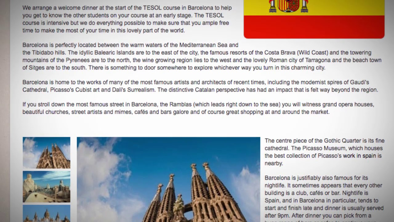 TESOL Course in Barcelona, Spain | Teach & Live abroad!
