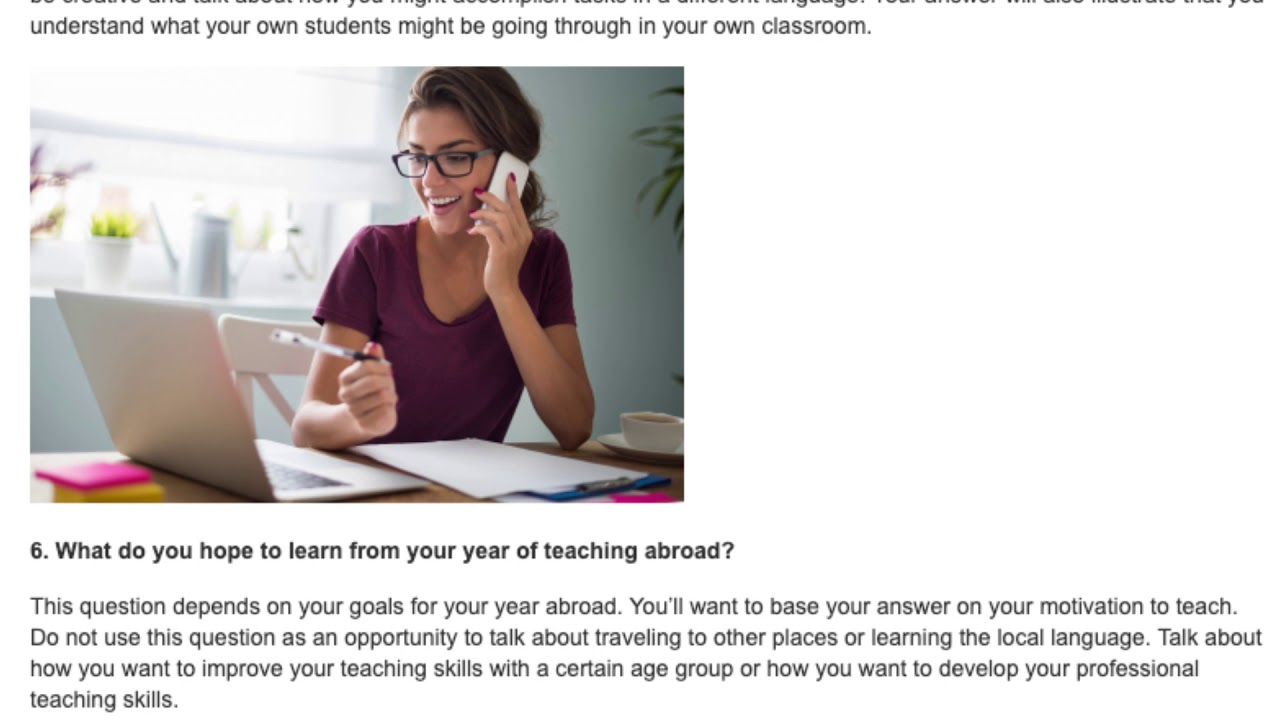 The 15 Most Asked Questions in a TEFL Interview   ITTT TEFL BLOG