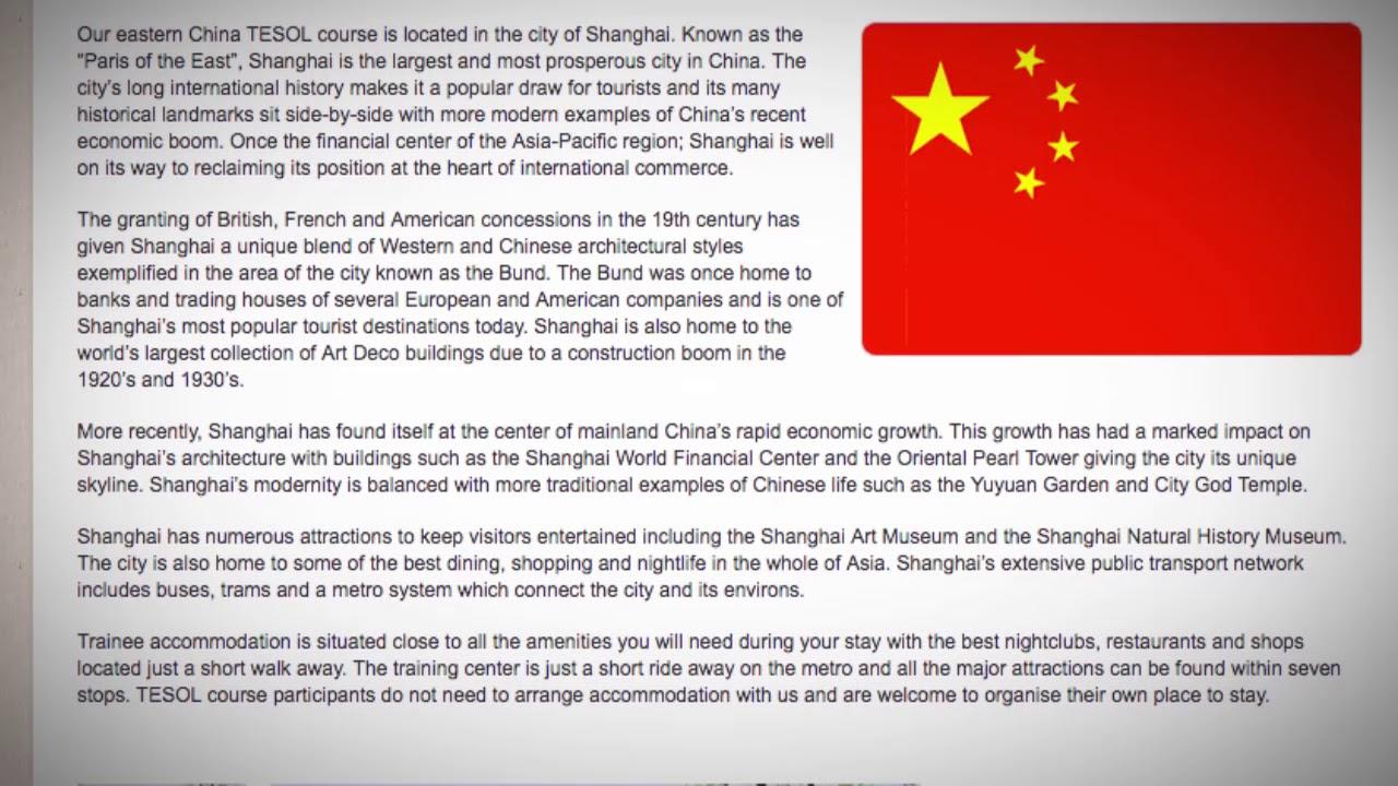 TESOL Course in Shanghai, China | Teach & Live abroad!