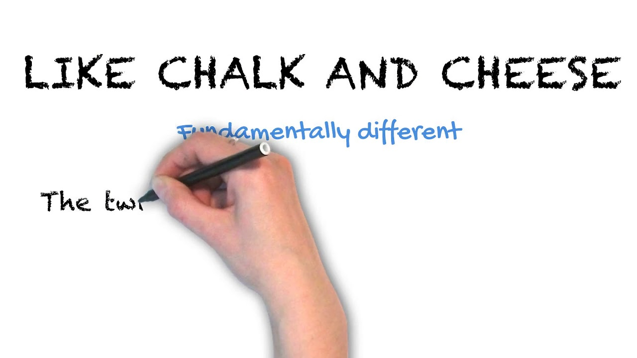 Chalk and Cheese | Ask Linda! | Idioms