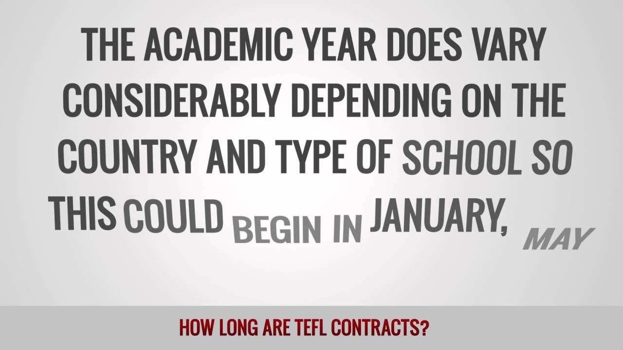 How long are TEFL contracts?