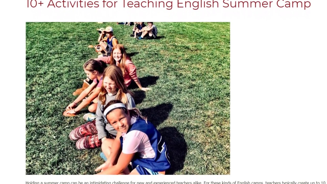 10+ Activities for Teaching English Summer Camp | ITTT TEFL BLOG