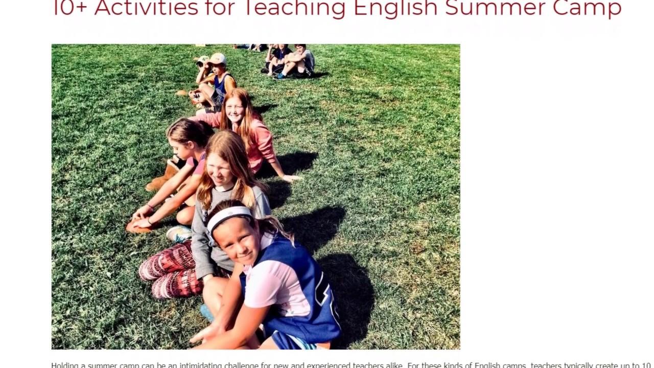 10+ Activities for Teaching English Summer Camp | ITTT TEFL BLOG