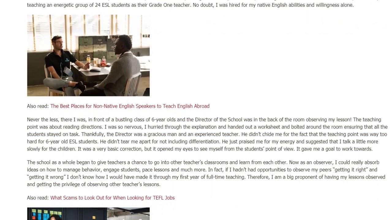 The Value of Observed Teaching Practice for ESL Teachers | ITTT TEFL BLOG