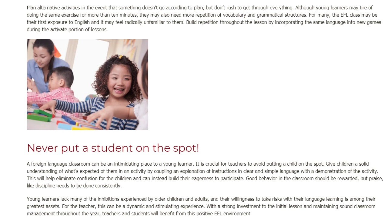 3 Key Strategies for Teaching Young Learners | ITTT TEFL BLOG