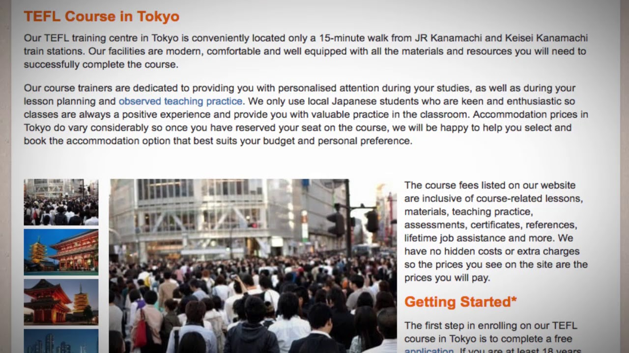 TEFL / TESOL Course in Tokyo, Japan | Teach & Live abroad!