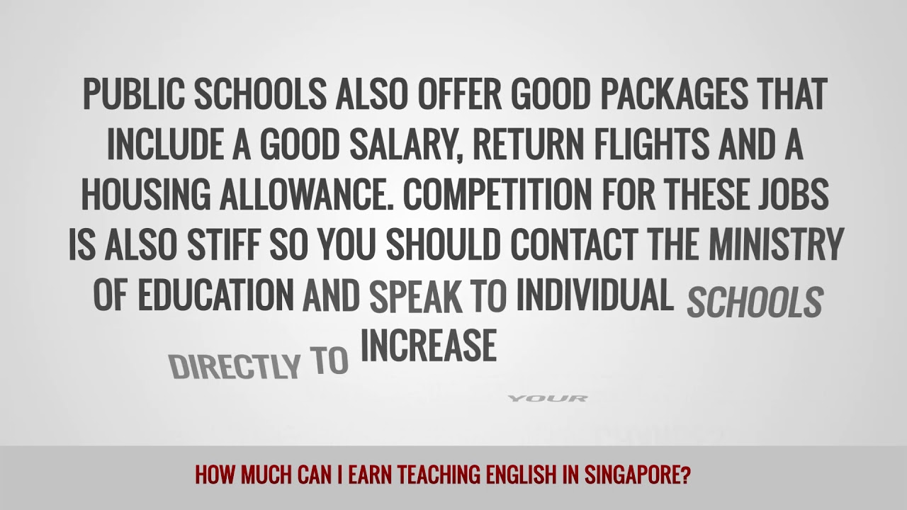 ITTT FAQs – How much can I earn teaching English in Singapore?