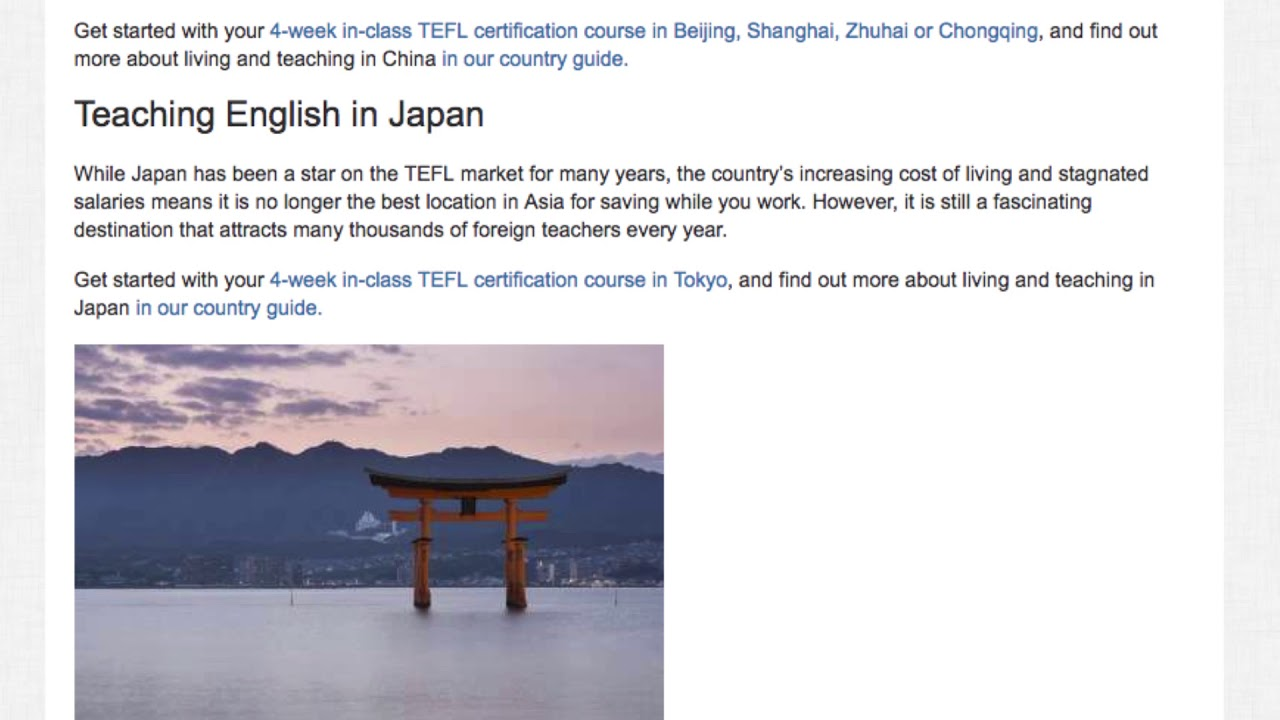 Where to Earn the Highest Salaries Teaching English Abroad