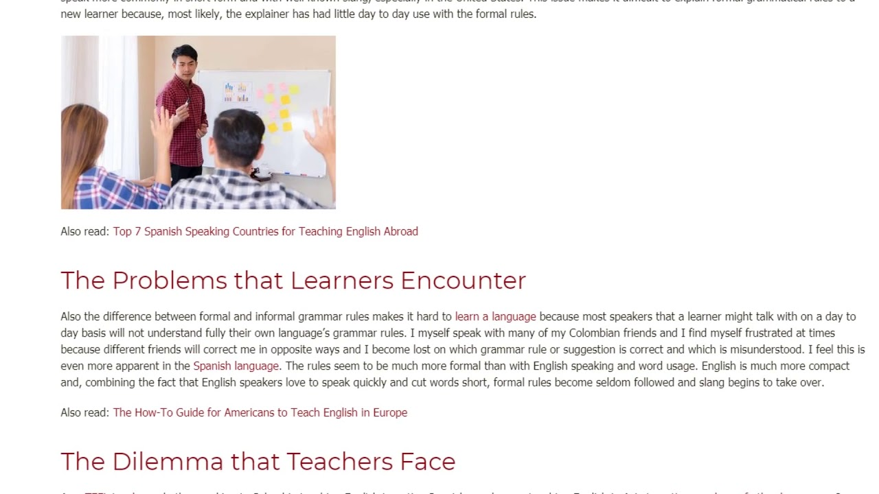 The Main Problems of Teaching Formal and Informal Language | ITTT TEFL BLOG