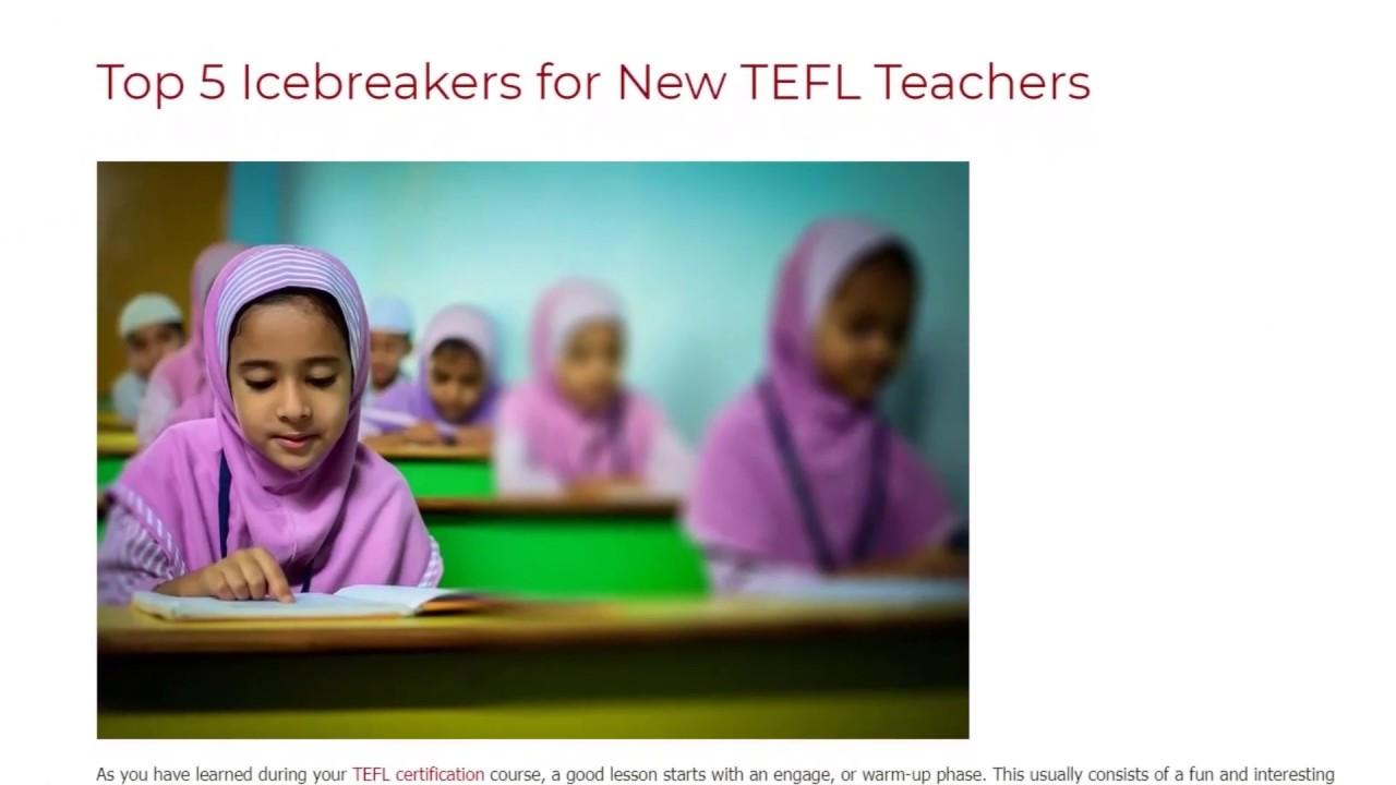 Top 5 Icebreakers for New TEFL Teachers   ITTT TEFL BLOG