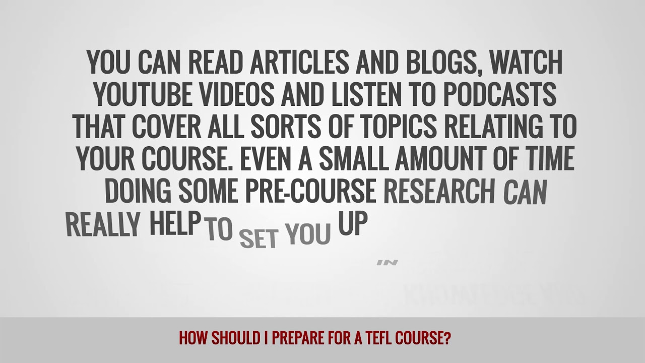 ITTT FAQs – How Should I Prepare for a TEFL Course?