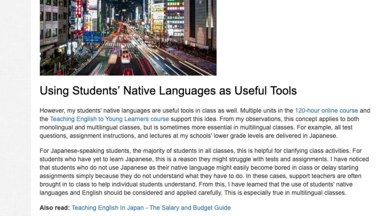 Differences in Teaching Monolingual and Multilingual EFL Groups | ITTT TEFL BLOG
