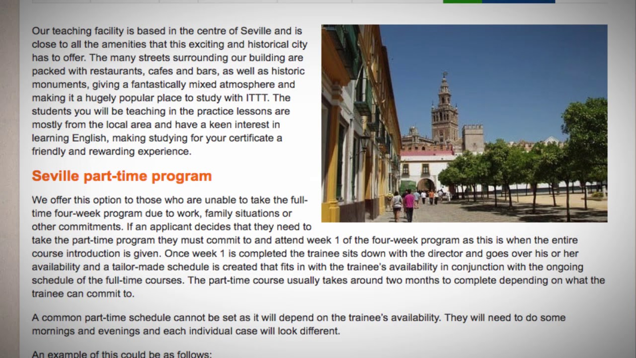Welcome to Our TEFL / TESOL School in Seville, Spain | Teach & Live abroad!