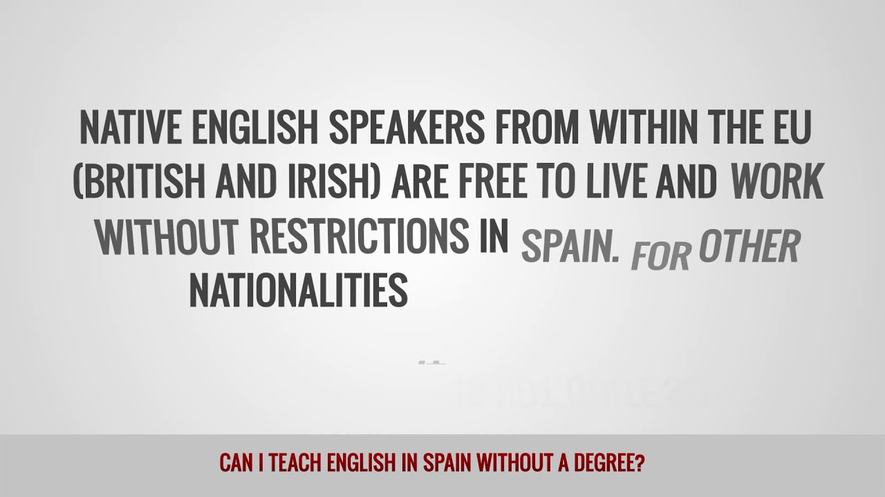 ITTT FAQs – Can I teach English in Spain without a degree?