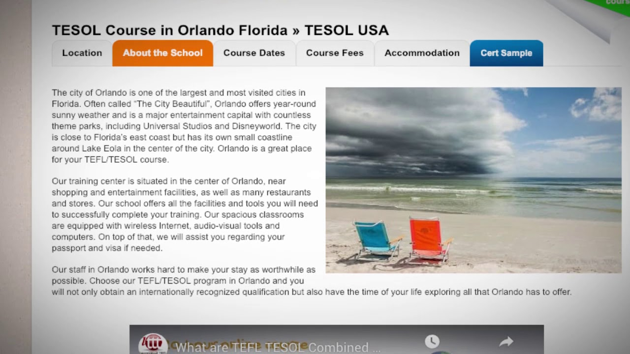 Welcome to Our TEFL / TESOL School in Orlando, USA | Teach & Live abroad!