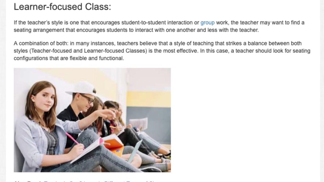 Classroom Seating Setups   ITTT   TEFL Blog