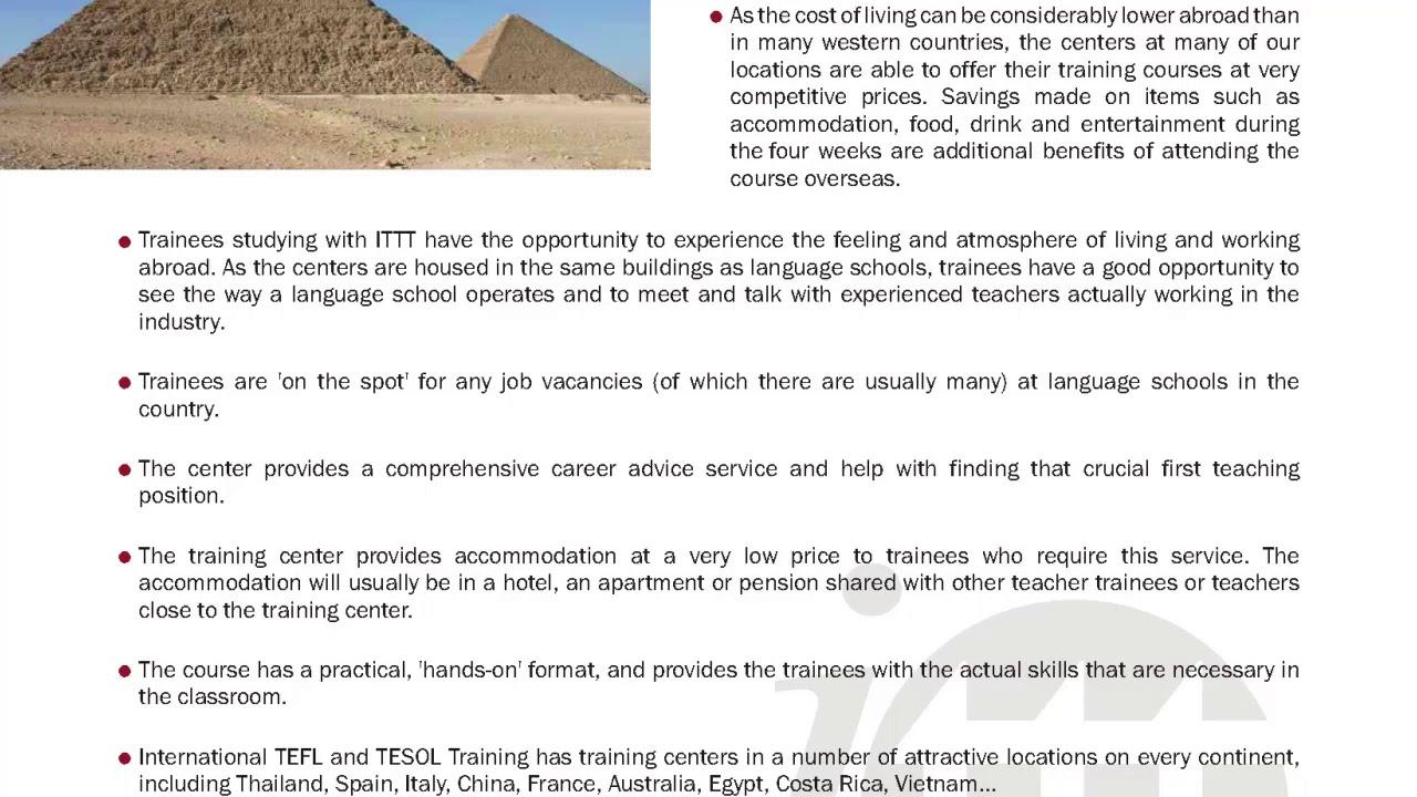 International TEFL and TESOL Training (ITTT) | Our TEFL/TESOL Course Options