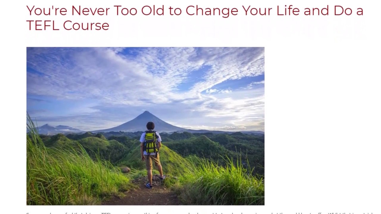 You're Never Too Old to Change Your Life and Do a TEFL Course | ITTT TEFL BLOG