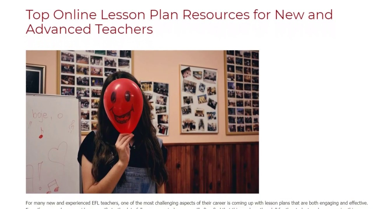 Top Online Lesson Plan Resources for New and Advanced Teachers | ITTT TEFL BLOG